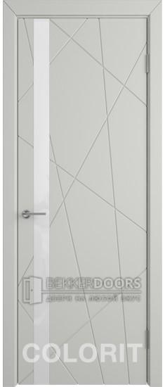 Дверь К5 ПО Эмаль светло-серая