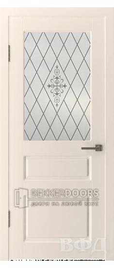 Дверь 15ДО01 Честер Эмаль слоновая кость