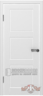 Дверь 19ДГ0 Трио  Эмаль белая