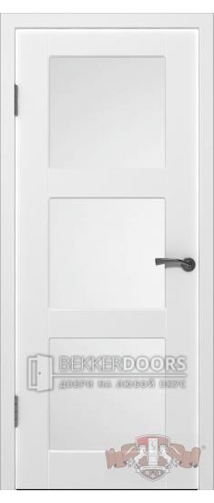 Дверь 19-3ДО0 Трио Эмаль белая