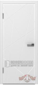 Дверь 26ДГ0 Авангард  Эмаль белая