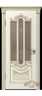 Дверь 41ДО01 Александрия Эмаль слоновая кость/Патина золото