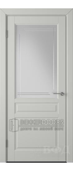 Дверь 56ДО02 Стокгольм Эмаль светло-серая