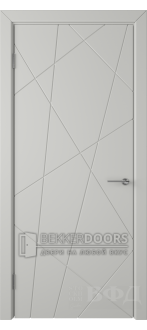 Дверь 26ДГ02 Флитта  Эмаль светло-серая