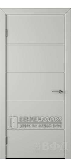 Дверь 50ДГ02 Тривиа  Эмаль светло-серая