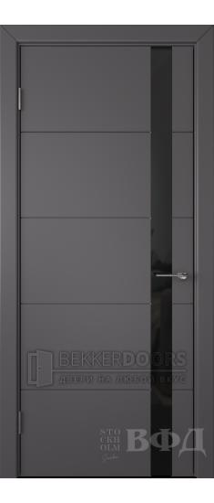 Дверь 50ДО06 Тривиа Эмаль графит