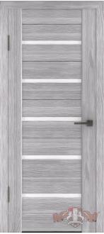 Дверь Л1ПГ2 Серый дуб Стекло ультра белое