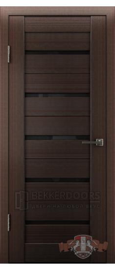 Дверь Л1ПГ4 Венге Стекло ультра черное