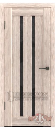 Дверь Л2ПГ1 Капучино Стекло ультра черное