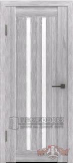 Дверь Л2ПГ2 Серый дуб Стекло ультра белое