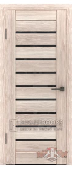 Дверь Л3ПГ1 Капучино Стекло ультра черное