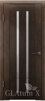Дверь ПО GLAtum X2 Венге