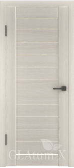 Дверь ПГ GLAtum X6 Беленый дуб