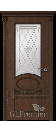 Дверь ПО GLPremier 12  Дуб коньяк