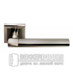 Дверная ручка DIY MH-21 SN/BN-S белый никель/черный никель