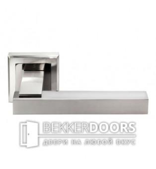 Дверная ручка DIY MH-37 SN/BN-S белый никель/черный никель
