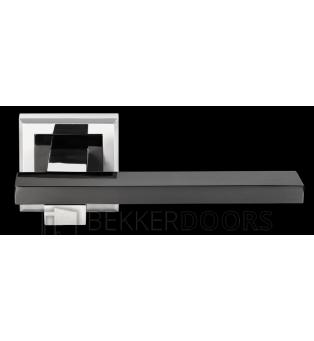 Дверная ручка DIY MH-38 SN/BN-S белый никель/черный никель