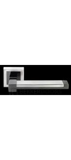 Дверная ручка DIY MH-39 SN/BN-S белый никель/черный никель
