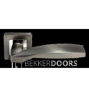 Дверная ручка DIY MH-45 GR/CP-S55 графит/полированный хром