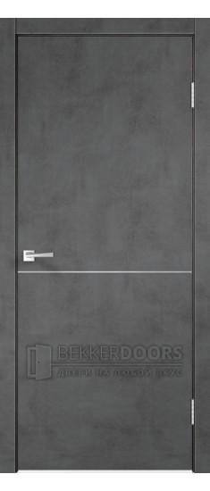 Дверь TECHNO M1 ПГ Муар тёмный