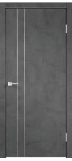 Дверь TECHNO M2 ПГ Муар тёмный