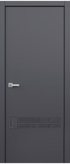 Дверь Гладкое полотно ПГ Супермат графит