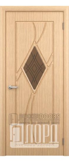 Дверь Кристалл 1 ПО Лен светлый