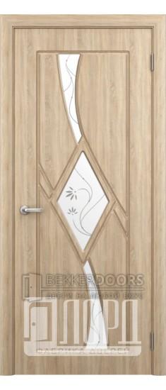 Дверь Кристалл 3 ПО Дуб рифленный