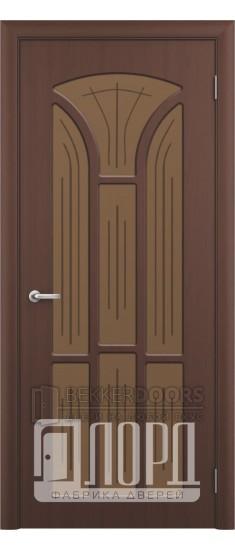 Дверь Лотос 4 ПО Черный орех