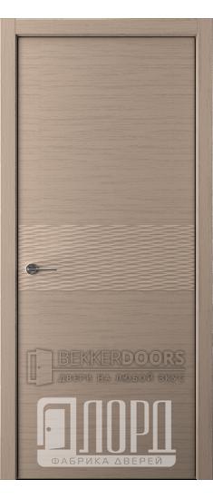 Дверь Альфа D1 ПГ Холст серый