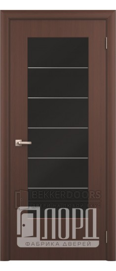 Дверь Стиль с молдингом ДО Черный орех