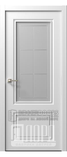 Дверь  Ренессанс 1 ДО Леон Эмаль белая