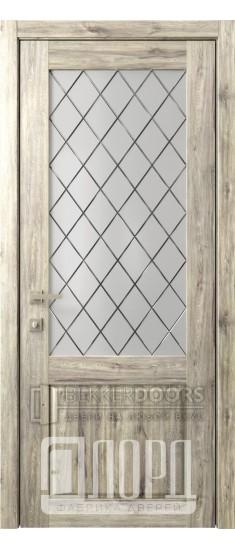 Дверь Кантри 2 ДО Дуб санремо темный Ромбы