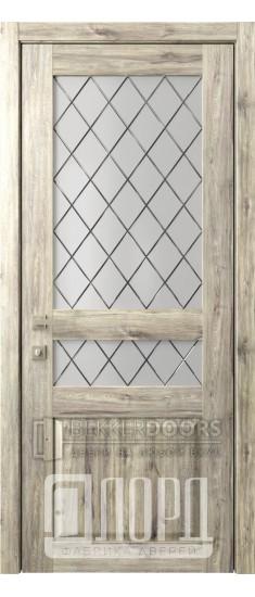 Дверь Кантри 4 ДО Дуб санремо темный Ромбы