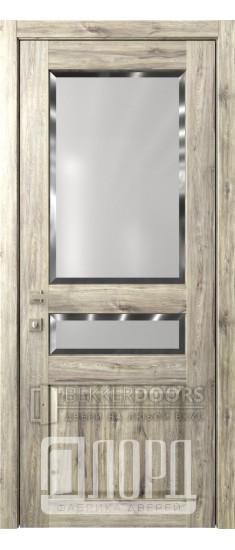 Дверь Кантри 4 ДО Дуб санремо темный Фацет