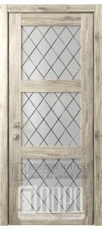 Дверь Кантри 6 ДО Дуб санремо темный Ромбы