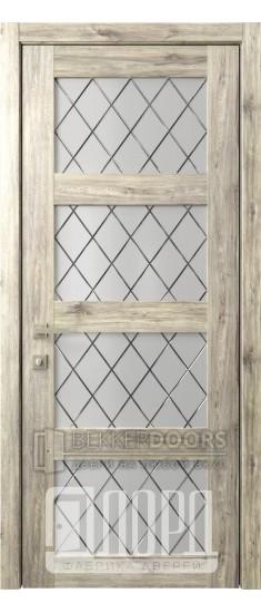 Дверь Кантри 8 ДО Дуб санремо темный Ромбы