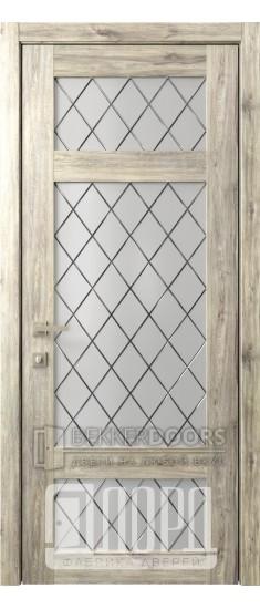 Дверь Кантри 10 ДО Дуб санремо темный Ромбы