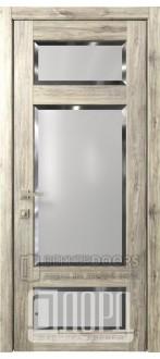 Дверь Кантри 10 ДО Дуб санремо темный Фацет
