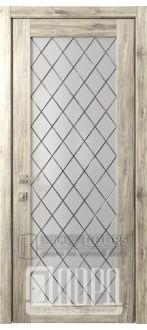 Дверь Кантри 12 ДО Дуб санремо темный Ромбы