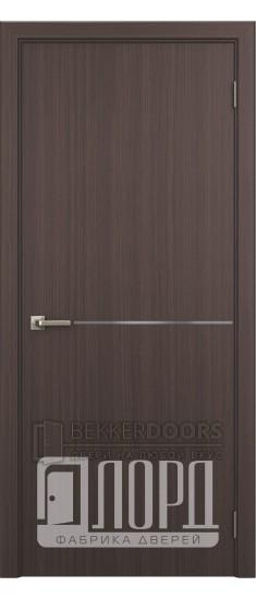 Дверь Техно 1 ДГ с молдингом Черное дерево