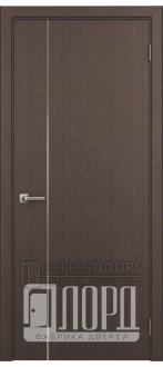 Дверь Техно 1-1 ДГ с молдингом Черное дерево