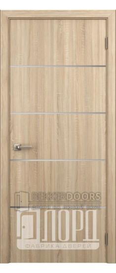 Дверь Техно 4 ДГ с молдингом Дуб рифленый