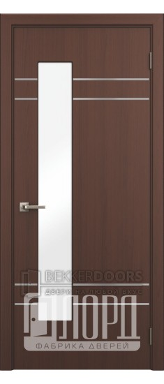 Дверь Техно 5 ДО с молдингом Красное дерево