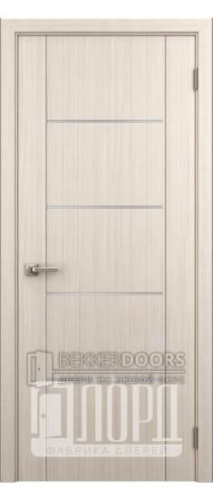 Дверь Техно 8 ДГ с молдингом Дуб рифленый