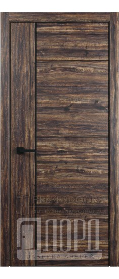 Дверь Melford-4 ПГ Бомонд вековой (с чёрным молдингом)
