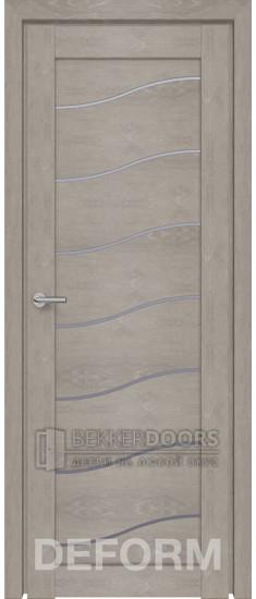 Дверь D2 ПО Дуб Шале Седой