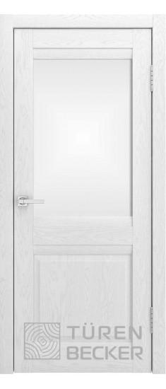 Дверь S8 ПО Ясень белый Стекло матированное
