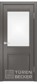 Дверь S8 ПО Ясень графит Стекло матированное