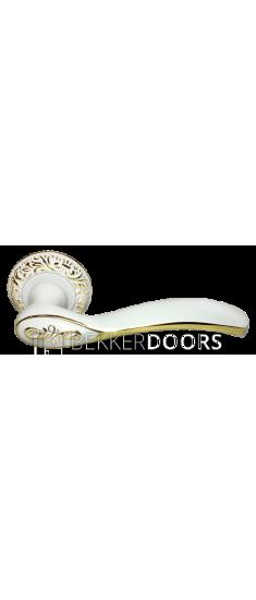 Дверная ручка DIY MH-36-CLP W/PG белый/золото